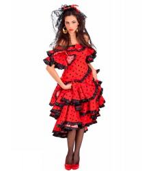 Красное платье испанки: головной убор, платье (Италия)