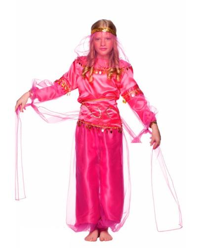 Костюм восточной принцессы: головной убор, кофта, накладки на туфли, пояс, штаны (Италия)