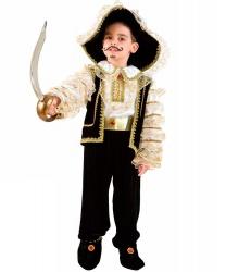 Костюм пирата на мальчика: жилетка, накладки на туфли, пояс, рубашка, шляпа, штаны (Италия)
