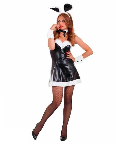 Костюм зайки Playboy: бабочка, нарукавники, платье, ушки (Италия)