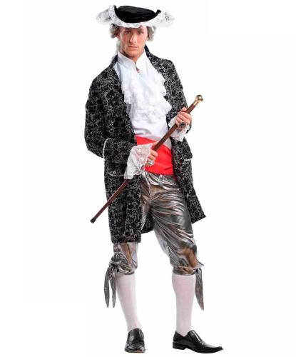 Костюм придворного: бриджи, гетры, камзол, накладки на обувь, пояс, рубашка, шляпа (Италия)