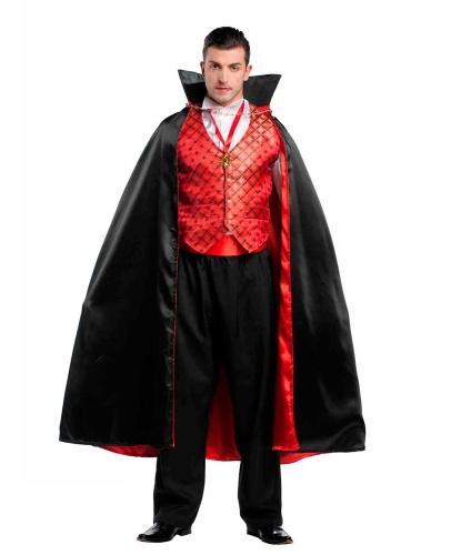 Костюм Дракула: жилетка, зубы, накидка, пояс, рубашка, украшение на шею, штаны (Италия)