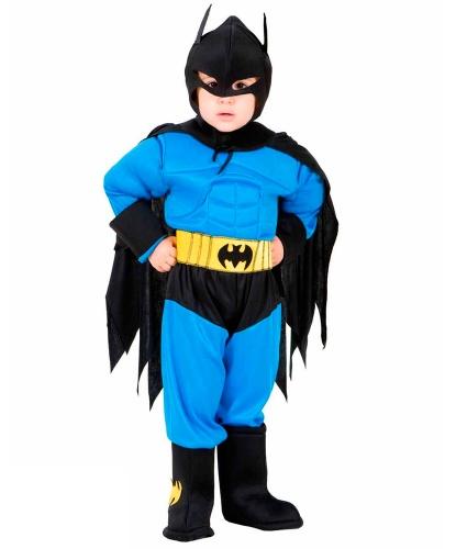 Костюм Бэтмана детский: капюшон с маской, комбинезон, накладки на ботинки, пояс, накидка (Италия)