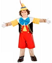 Костюм Пиноккио: брюки, воротник, жилетка, накладки на туфли, перчатки, рубашка, шапка (Италия)
