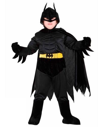 Костюм Бэтмана велюровый: кофта, маска, накладка на сапоги, перчатки, плащ, пояс, штаны (Италия)