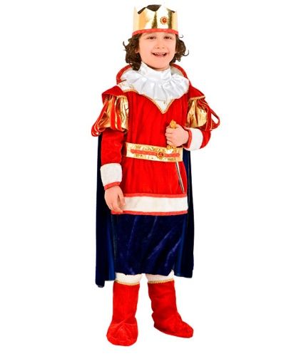 Костюм короля Артура: накидка, накладки на обувь, штаны, манишка (Италия)