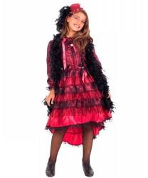 Костюм танцовщицы кабаре: боа, платье, шляпа (Италия)