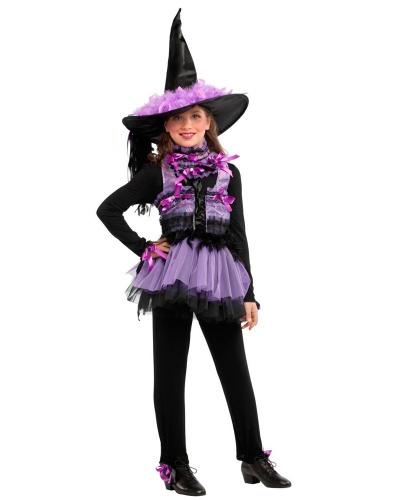 Детский костюм ведьмочки: жилетка, колпак, комбинезон, юбка (Италия)