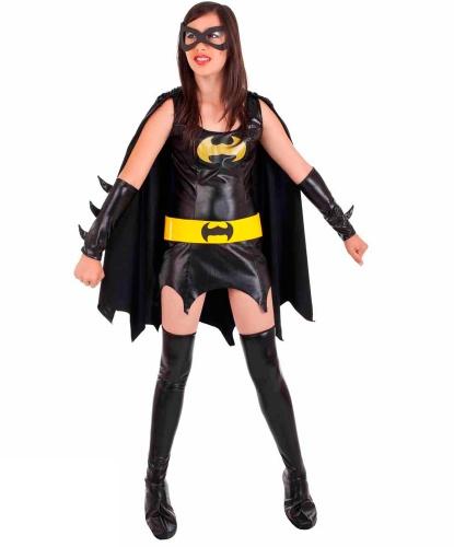 Подростковый костюм Batgirl: маска, накидка, накладки на обувь, нарукавники, платье (Италия)