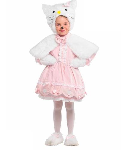 Костюм Hello Kitty: накидка, накладки на обувь, платье, шапка, рукавицы (Италия)
