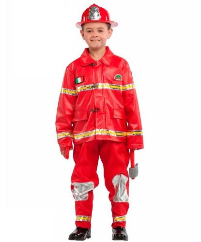 Детский костюм Пожарный: куртка, штаны, шлем. (Италия)