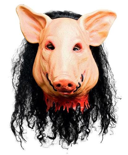 Маска свиньи из к/ф Пила, иск. волосы, латекс (Германия)