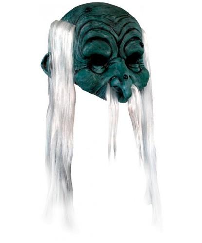 Полумаска Колдун, иск. волосы, латекс (Германия)