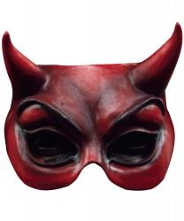 Полумаска дьявола латексная
