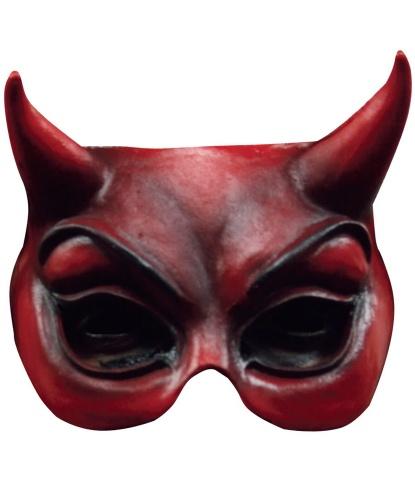 Полумаска дьявола латексная, латекс (Германия)
