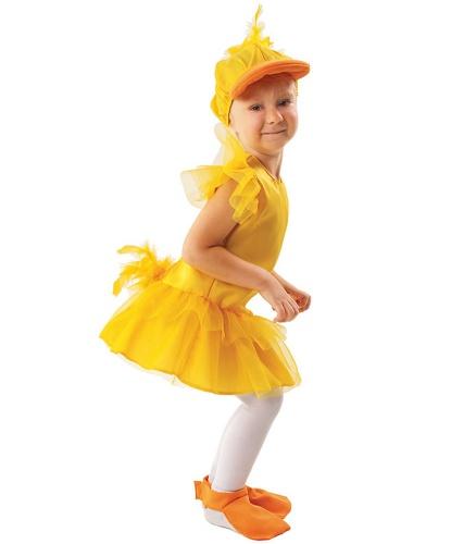 Костюм утки: кепка, накладки на туфли, платье (Польша)