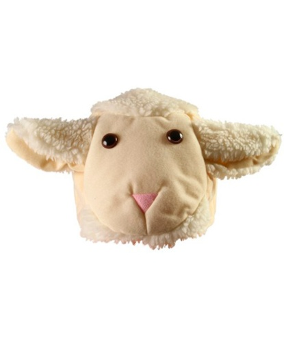 Шапочка овечки, велюр, иск. мех (Польша)