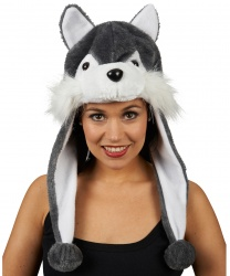 Взрослая шапка волка