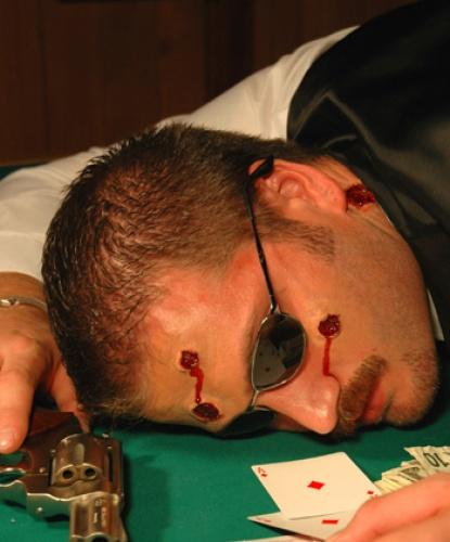 Набор из 5 огнестрельных ран с кровью, латекс (Германия)