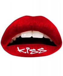 Наклейка на губы Поцелуй 3 шт., цвет красный (Великобритания)