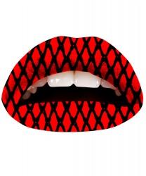 Наклейка для губ - красно-черная