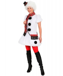 Платье девушки снеговика