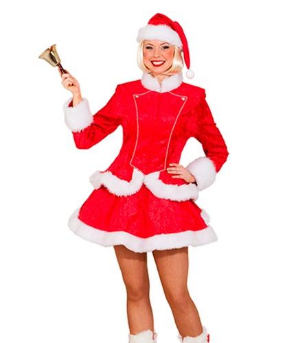 Женский рождественский костюм: жакет, юбка, колпак (Германия)