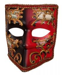 Венецианская маска Bauta Красная