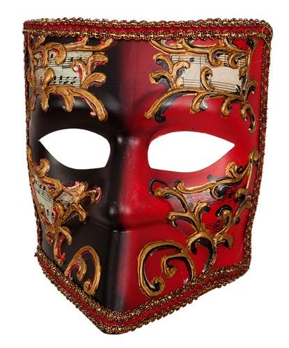 Венецианская маска Bauta Красная, пластик (Германия)