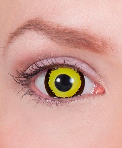 Мини склеральные линзы Аватар, на весь глаз, без диоптрий, срок ношения 90 дней (Великобритания)