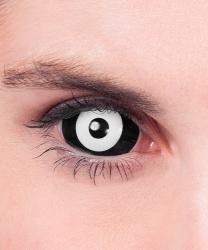 Черно-белые склеральные линзы, на весь глаз, без диоптрий, срок ношения 90 дней (Великобритания)