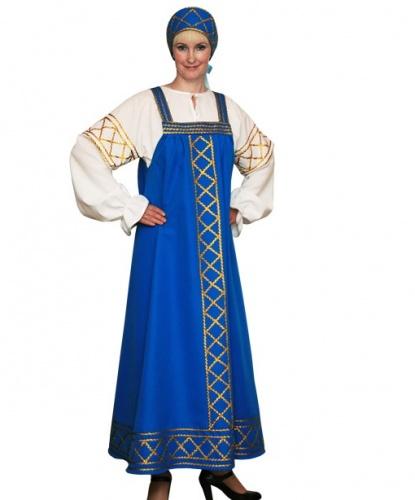 Русский народный костюм Ольга: блузка, сарафан, кокошник (Россия)