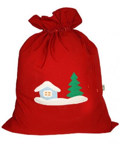 Мешок для подарков, красный