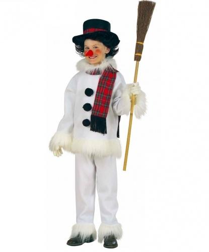 Костюм снеговика: штаны, куртка, шляпа, шарф, нос (Италия)