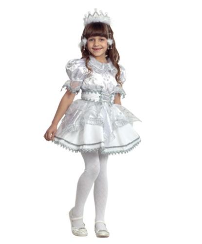 Костюм серебряной снежинки: блузка, юбка, пояс (Россия)