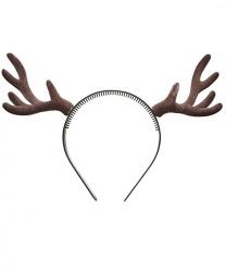 Оленьи рога коричневые объемные - Рога, нимбы, уши, арт: 6592