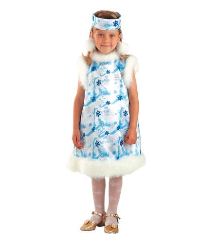 Голубое платье снежинки: платье, головной убор (Россия)