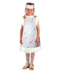 Серебряное платье снежинки