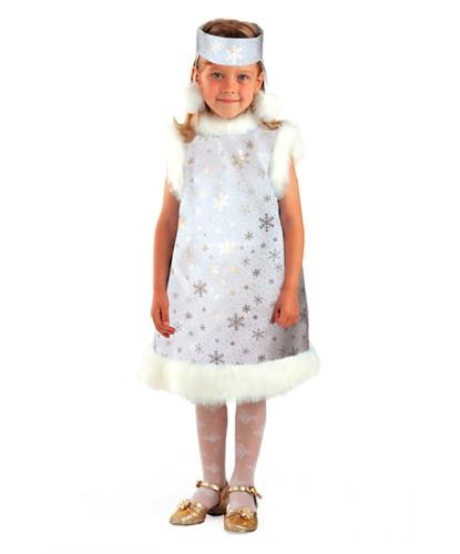 Серебряное платье снежинки: платье, головной убор (Россия)
