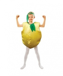 Костюм лимона для детей: комбинезон, повязка на голову (Польша)