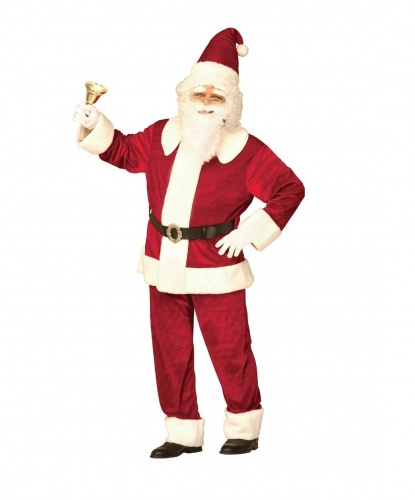 Костюм Санта-Клаус: кофта, брюки, шапка, ремень (Италия)