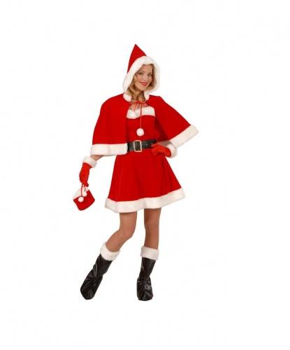 Костюм  Мисс Санта: платье, накидка (Италия)