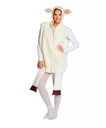 Взрослый костюм овечки: жилетка с капюшоном (Германия)