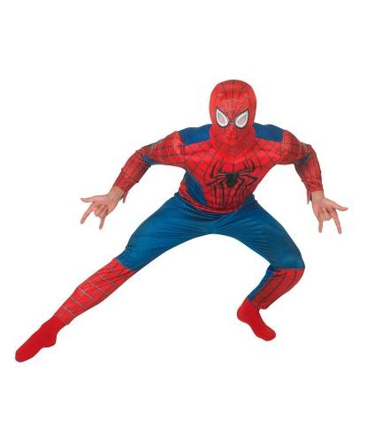 Костюм удивительного человека паука: комбинезон, пластиковая маска (Германия)