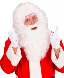 Белая кудрявая борода Деда Мороза