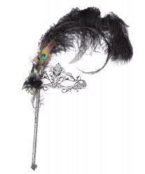 Венецианская маска на палочке