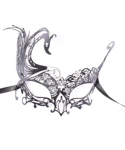 Венецианская маска Cigno, металл, стразы (Италия)
