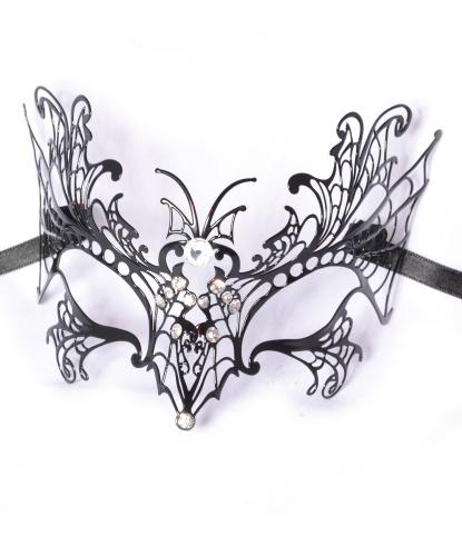 Венецианская маска Farfalla (бабочка), металл, стразы (Италия)