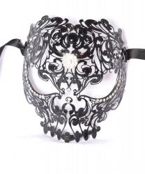 """Венецианская маска """"черный череп"""""""