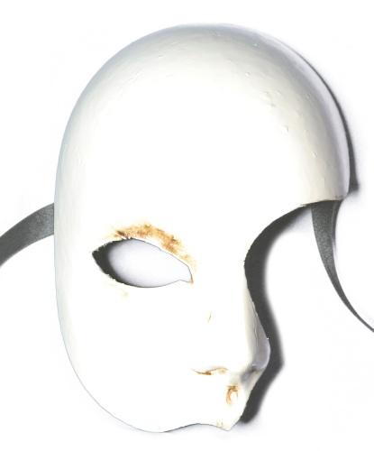 Маска призрака оперы, папье-маше (Италия)